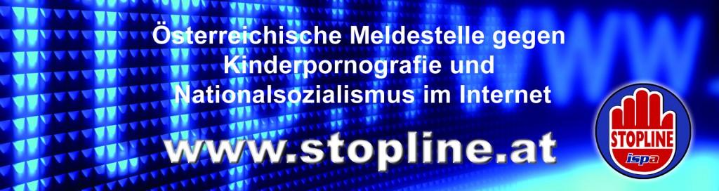 Stopline Banner-quer-blau