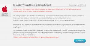 Macintosh mit Virenbefall